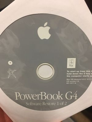 PowerBook G4 software restore and Mac OS X install discs. for Sale in Tigard, OR