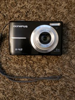 OLYMPUS X-42 12 MEGAPIXEL CAMERA MEMORY CARD AND BATTERIES INCLUDED for Sale in Glendale,  AZ