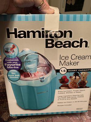 Hamilton Beach Ice Cream Maker for Sale in Virginia Beach, VA