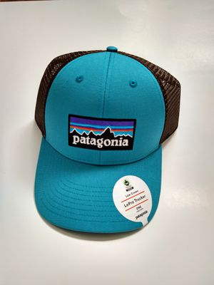 Patagonia p-6 logo Lopro Adjustable Snap Trucker Hat Mesh Back Mako Blue for Sale in Davie, FL