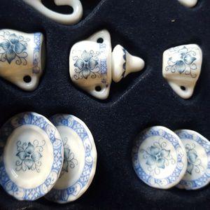 Porcelain-hand-painted-miniature-tea-set for Sale in Mesa, AZ