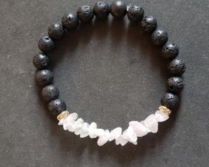NATURAL Rose Quartz Lava Rock Oil Essential Perfume Bracelet (increase popularity, keep/attract love, calm emotions, health benefits- see photos) for Sale in West Covina, CA