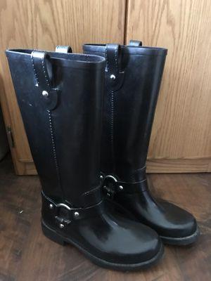 Michael KORS Rain Boots Rubber Size 8M for Sale in Black Diamond, WA