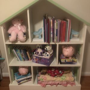 Pottery Barn Kids Dollhouse Bookcase And Storage for Sale in West Palm Beach, FL