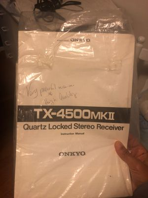 Onkyo Receiver & Turn Table for Sale in Accokeek, MD