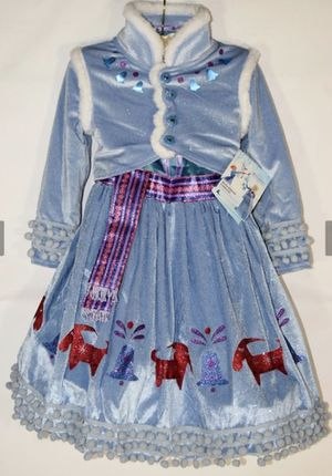 Brand new Disney parks olaf's adventure anna deluxe costume size 7/8 see pictures I'm in Fontana for Sale in Fontana, CA