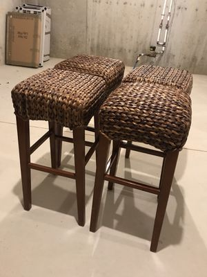 Bamboo Style Bar Stools (4 Stools) for Sale in Walled Lake, MI