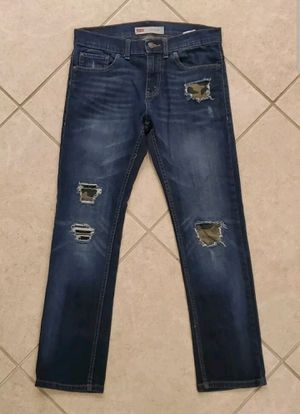 Boy's Levi's 511 Slim Fit Denim Jeans Size 14 Regular 27x27 Distressed Camo for Sale in Land O' Lakes, FL