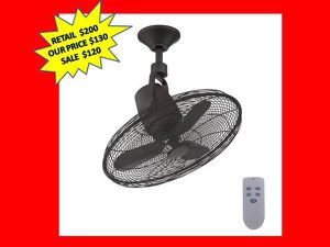 Home Decorators Collection Bentley III 22 in. Indoor/Outdoor Natural Iron Oscillating Ceiling Fan with Remote Control NEW for Sale in Plantation, FL