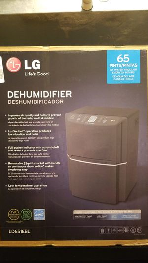 LG 65 pint dehumidifier used once. for Sale in Coconut Creek, FL