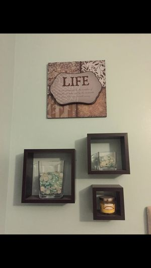 Brown & Blue Wall Decor Set for Sale in Livonia, MI