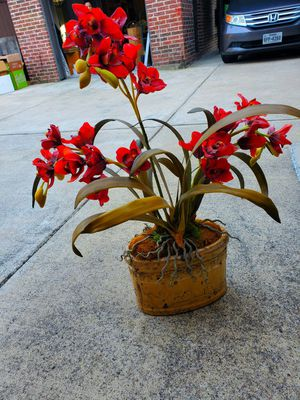 Beautiful Vintage Faux Flower Pot - Price negotiable for Sale in Frisco, TX