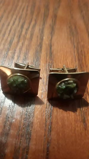 Gorgeous genuine Jade stone cufflinks for Sale in New York, NY