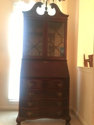 Vintage Mahogany Secretary Desk for Sale in Herndon, VA