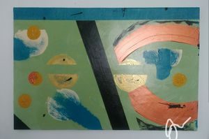 2 ft by 3 ft abstract original hand-painted art for Sale in Miami Beach, FL