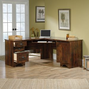 Sauder Harbor View Corner Computer Desk, Curado Cherry Finish for Sale in Sterling, VA