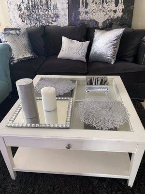 "IKEA LIATORP Coffee table, white, glass, 36 5/8x36 5/8 "" for Sale in Alexandria, VA"