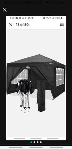 10'x10' Pop Up Canopy Top Gazebo Folding Wedding Party Tent +4 Sidewalls for Sale in New York, NY