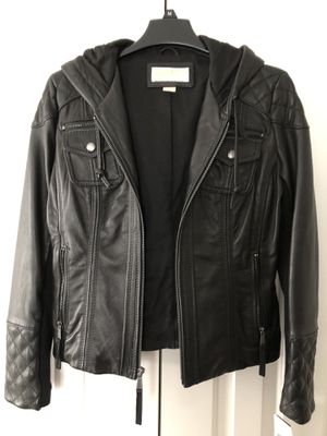 Michael Kors - women's motorcycle leather jacket / black / NWT for Sale in Northborough, MA