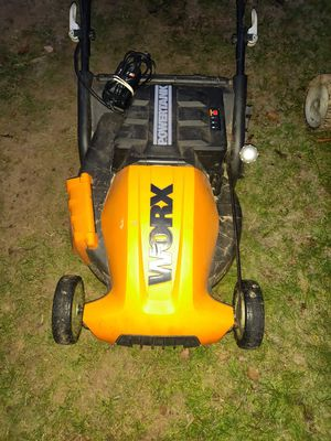 Worx power tank rechargeable battery powered lawn mower for Sale in Tacoma, WA