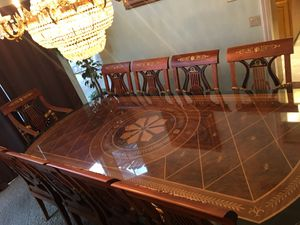 Used Italian Versace Formal Dining Room Set with Server for Sale in Irvine, CA