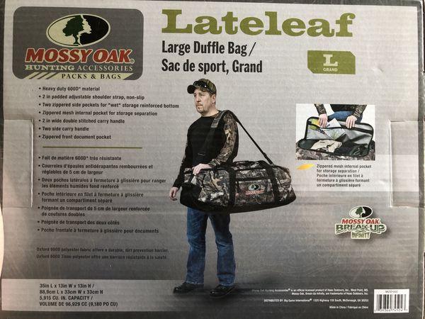 Missy Oak large camouflage duffel bag