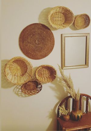Basket wall/mirror/boho for Sale in Spring Valley, CA