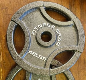 Pair of 45 pound Olympic weight plates new for Sale in Weymouth, MA