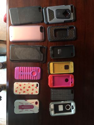 Various types and sizes of iPhone cases Otter box, lifeproof, mophie, stm, RokForm, extreme for Sale in Manassas, VA