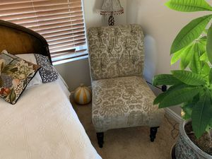Sculptured Velvet Accent Chair and Ottoman for Sale in Bend, OR