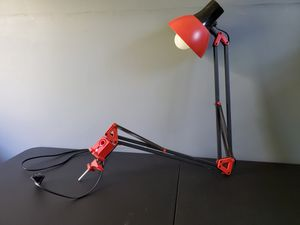 Red Clamp Lamp for Sale in Staunton, VA