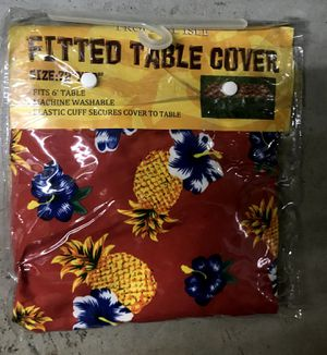 Hawaiian Tropical Isle Fitted Table Cover - 6 ft for Sale in Chamblee, GA