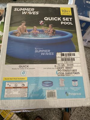 Summer Waves Quick Set 10 ft Swimming Pool for Sale in Alhambra, CA