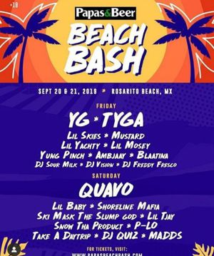 1 VIP ticket to papas and beer beach bash September 20th & 21st for Sale in Downey, CA