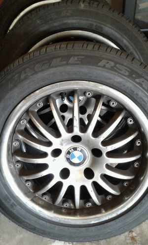 Slightly used bmw rims but new Goodyear tires [set] for Sale in Murfreesboro, TN