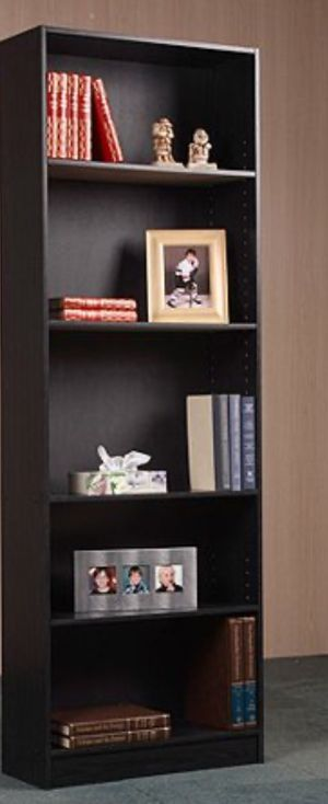 New!! Bookcase, bookshelves, organizer, storage unit, 5 shelf bookcase, living room furniture, entrance furniture, shelving display , black for Sale in Phoenix, AZ