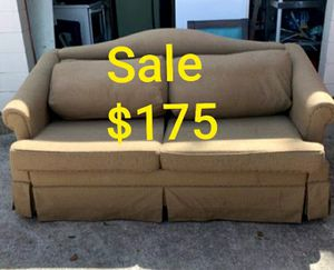 Brown couch with sofa bed delivery available for Sale in Kissimmee, FL