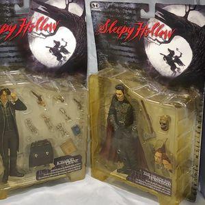 McFarlane Toys Sleepy Hollow Headless Horseman - Christopher Walken and Ichabob Crane - Johnny Depp. for Sale in Peoria, AZ