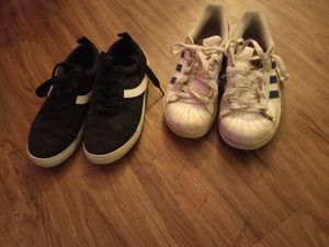 White adidas and black & white shoes for Sale in Houston, TX