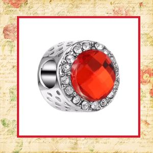 New Red Czech Rhinestone bling bead silver for DIY bracelet or necklace like Pandora for Sale in Las Vegas, NV