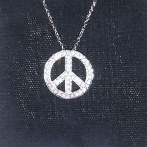 Tiffany & Co. Diamond Peace Sign Necklace for Sale in Washington, DC