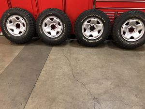 Set of mud tires and wheels for Sale in Cornelius, OR