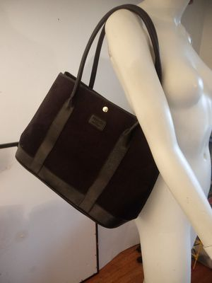Hermes garden party tote black canvas and leather trim for Sale in Renton, WA