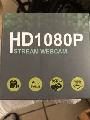 1080P Webcam, HDWeb Webcam with Microphone & Privacy Cover, USB Web Cam with Wide Angle Lens & Large Sensor for PC Mac for Sale in Chicago, IL
