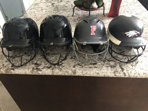 Softball helmets with masks for Sale in Fontana, CA
