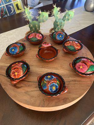 8 mini cazuelitas-Authentic, hand painted for Sale in La Puente, CA