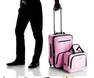 Rockland Luggage 2 Piece Set, Pink, One Size carry on bag for Sale in Las Vegas, NV