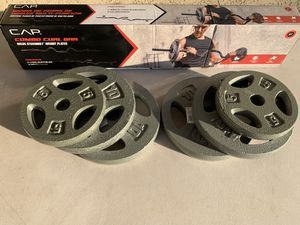 Curl bar with 50 lb for Sale in San Leandro, CA