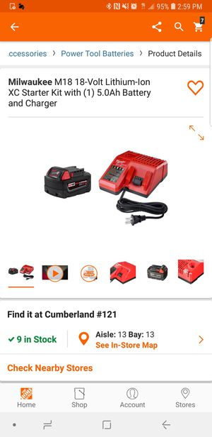 Milwaukee brand new battery 5.0 and charger for Sale in Winter Springs, FL
