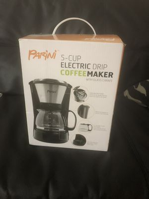 Parini 5 cup coffee maker with glass carafe(price negotiable) for Sale in Eden Prairie, MN